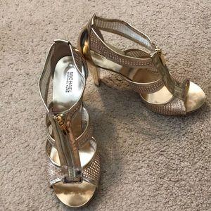 Michael joes gold platform shoes